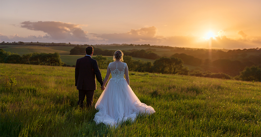 wedding sunset